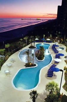 Oceanfront Pool At Sunset