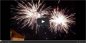 Barefoot Landing Fireworks Video