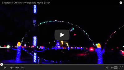 video of the lights at shadracks christmas wonderland shadracks christmas wonderland in myrtle beach